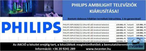 PHILIPS AMBILIGHT TELEVÍZIÓK KIÁRUSÍTÁSA!
