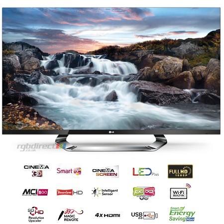 "LG 47LM760S Full HD 400 Hz 3D LED SMART televízió 47"" (117cm)"