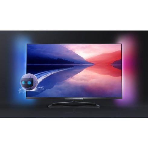 """Philips 47PFL6008K/12 Full HD 500Hz 3D Smart LED televízió Ambilight XL funkció 47"""" (119cm)"""