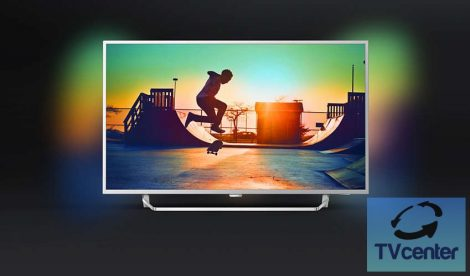"""Philips 49PUS6412 Ultra HD 4K LED Ambilight televízió Android rendszerrel 49"""" (124 cm)"""