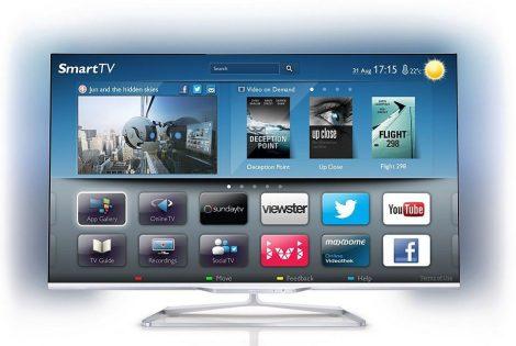 """Philips 55PFL7108K/12 Full HD 700Hz 3D Smart LED televízió Ambilight XL funkció 55"""" (140cm)"""