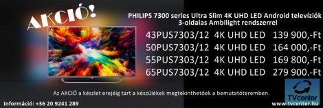 PHILIPS 3 AMBILIGHT TELEVÍZIÓK AKCIÓBAN!