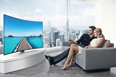 "Samsung UE55HU8500 ívelt Ultra HD 4K 1200 Hz 3D SMART WiFi LED televízió 55"" (140cm)"