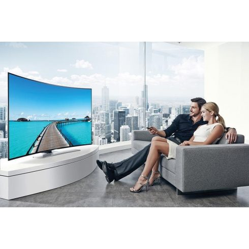 "Samsung UE55HU8500 ívelt Ultra HD 4K 1200 Hz 3D SMART WiFi LED televízió 55"" (140cm)"