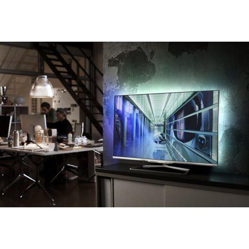 """Philips 47PFL7108K/12 Full HD 700Hz 3D Smart LED televízió Ambilight XL funkció 47"""" (119cm) + ajándék 2 db 3D szemüveg"""